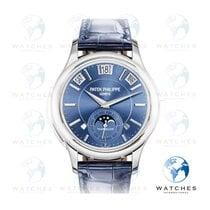 Patek Philippe Minute Repeater Perpetual Calendar Oro blanco 41mm Azul Sin cifras