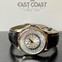 Patek Philippe World Time White gold 39.5mm Silver United States of America, Florida, Miami