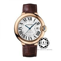 Cartier Ballon Bleu 28mm Rose gold 28mm Silver Roman numerals United States of America, New York, New York
