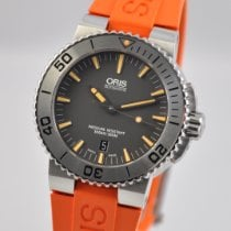 Oris Aquis Date pre-owned 43mm Grey Date Rubber