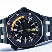 Audemars Piguet Carbone Remontage automatique Noir Sans chiffres 42mm occasion Royal Oak Offshore Diver