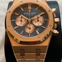 Audemars Piguet Royal Oak Chronograph Rose gold 41mm Blue No numerals United Kingdom, Shrewsbury