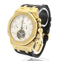 Audemars Piguet Royal Oak Tourbillon Gelbgold 44mm Weiß