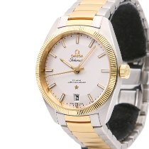 Omega Globemaster Gold/Steel 39mm Silver No numerals