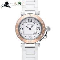 Cartier Pasha Seatimer Stahl 33mm Weiß