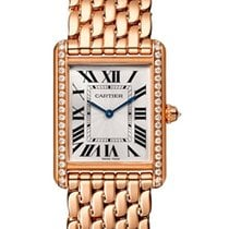 Cartier Rose gold Manual winding Silver 33.7mm new Tank Louis Cartier