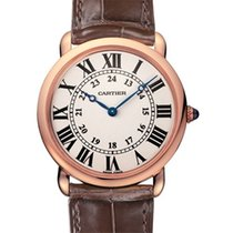 Cartier Ronde Louis Cartier neu 2021 Handaufzug Uhr mit Original-Box und Original-Papieren W6800251