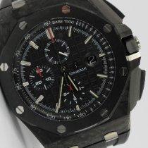 Audemars Piguet Carbon Automatik Schwarz 44mm gebraucht Royal Oak Offshore Chronograph