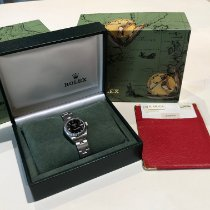 Rolex Oyster Perpetual Lady Date Steel 26mm Black No numerals