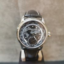 Frederique Constant Manufacture Worldtimer Acier 42mm Gris Arabes France, paris