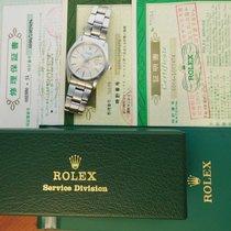 Rolex Oyster Precision Stahl 34mm Silber Keine Ziffern