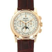 Patek Philippe Perpetual Calendar Chronograph Oro rojo 40mm Plata
