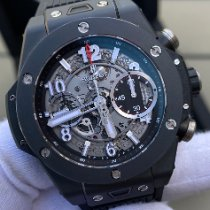 Hublot Big Bang Unico Cerâmica 42mm Transparente Árabes