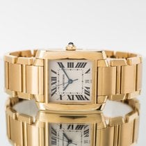 Cartier Tank (submodel) Yellow gold 28mm Silver Roman numerals