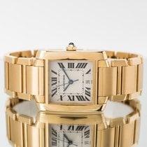 Cartier Tank (submodel) Foarte bună Aur galben 28mm Atomat