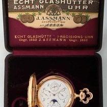 No. 15974,  Julius Assmann Glashütte Velmi dobré Růžové zlato 56mm Ruční natahování