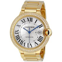 Cartier Ballon Bleu 42mm pre-owned 42mm Silver Date Yellow gold