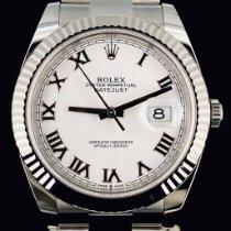Rolex Datejust II Staal 41mm Wit Geen cijfers