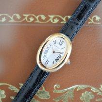 Cartier Baignoire Gelbgold 33mm Weiß Römisch