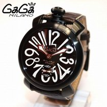 Gaga Milano Steel 48mm Manual winding gaga 5012.4 new
