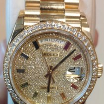 Rolex Day-Date 36 Κίτρινο χρυσό 36mm Μπλέ Xωρίς ψηφία Ελλάδα, iraklio
