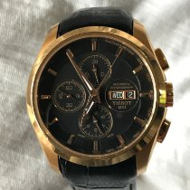 Tissot Rose gold Automatic Black No numerals 43mm pre-owned Couturier