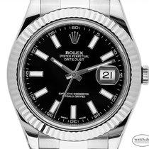 Rolex Datejust II Золото/Cталь 41mm Чёрный