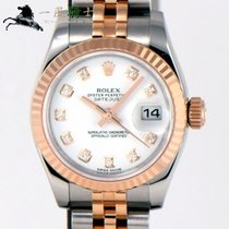 Rolex Lady-Datejust Gold/Steel 26mm White
