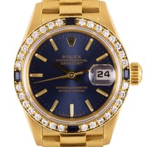 Rolex Yellow gold Automatic Blue 26mm pre-owned Datejust