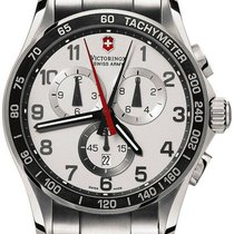 Victorinox Swiss Army Chrono Classic Steel 45mm Silver Arabic numerals United States of America, New York, Monsey