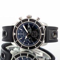 Breitling Superocean Héritage Chronograph occasion 46mm Noir Chronographe Date Caoutchouc