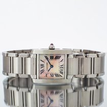 Cartier Tank Française pre-owned 20mm Steel