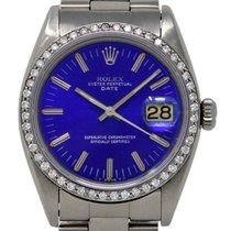 Rolex Oyster Perpetual Date Сталь 34mm Синий