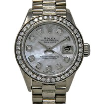 Rolex Lady-Datejust Or blanc 26mm Nacre