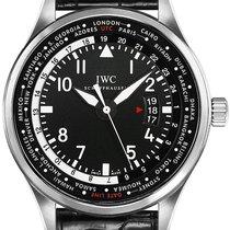 IWC Pilot Worldtimer Stal 45mm Czarny Arabskie Polska, Warszawa