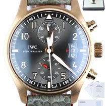 IWC Pilot Spitfire Chronograph pre-owned 43mm Grey Chronograph Buckle