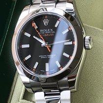 Rolex Milgauss Acero 40mm Negro Sin cifras