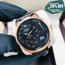 Glashütte Original PanoReserve Rose gold 40mm Black