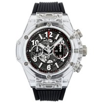 Hublot Big Bang Unico pre-owned 45mm Black Chronograph Date Rubber