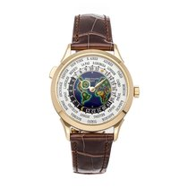 Patek Philippe Yellow gold Automatic Silver Arabic numerals 38.5mm pre-owned World Time