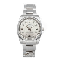 Rolex Oyster Perpetual 34 pre-owned 34mm Silver Fold clasp
