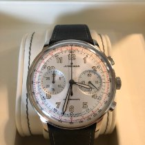 Junghans Meister Telemeter pre-owned 40,8mm Silver Chronograph Tachymeter Leather