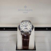 Patek Philippe Perpetual Calendar Ouro branco 40mm Champanhe Árabes