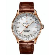 Breitling Navitimer Red gold 35mm Mother of pearl No numerals
