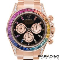 Rolex Daytona Rose gold 40mm Black No numerals