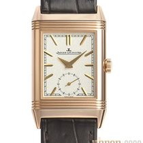 Jaeger-LeCoultre Red gold Manual winding Silver No numerals 42.9mm new Reverso Duoface