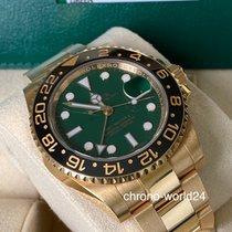 Rolex GMT-Master II Aur galben 40mm Verde Fara cifre