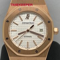 Audemars Piguet Royal Oak Selfwinding Or rose 39mm Blanc