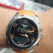 Tissot T-Touch II rabljen Crn Kronograf Datum, nadnevak Budilica Kaučuk