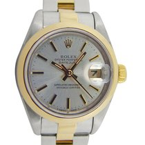 Rolex Silver Silver 26mm pre-owned Oyster Perpetual Lady Date
